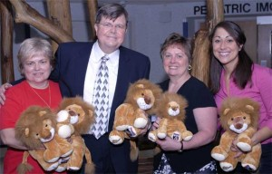 Courage Lion President John Ramming and volunteers at the launch of the Courage Lion Program at the University of Maryland Medical Center
